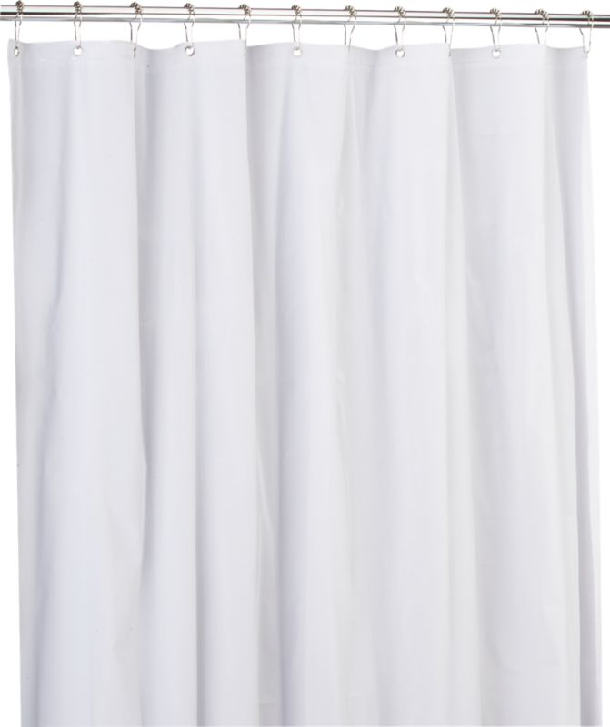 eva white shower curtain liner