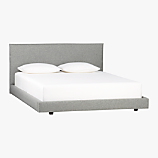 façade grey queen bed
