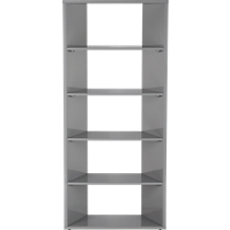 facet grey bookcase