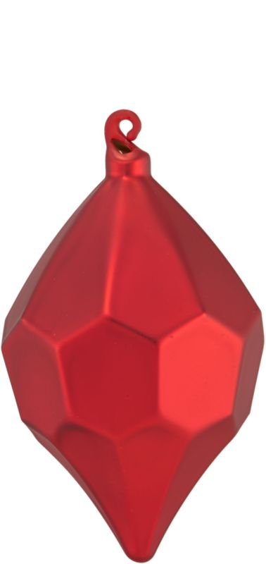 matte red facet ornament