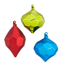 facet ornaments