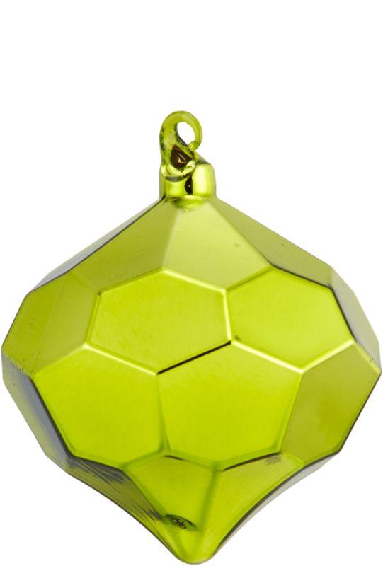 shiny green facet ornament