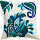 "fairgrove embroidered 18"" pillow with feather-down insert"