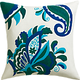 """fairgrove embroidered 18"""" pillow with feather-down insert"""