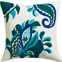 "fairgrove embroidered 18"" pillow"