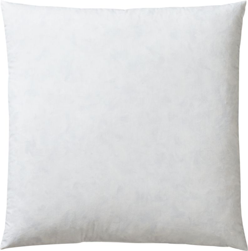 "<span class=""copyHeader"">feather your nest.</span> Plush blend of feathers and down plumps CB2 accent pillows. Wrapped in tightly woven 230-thread-count cotton cambric with downproof stitching.<br /><br /><NEWTAG/><ul><li>95% white duck feather, 5% white down fill feather-down fill (</li><li>Encased in 230-thread-count 100% cotton cambric</li><li>Downproof stitching</li></ul>"