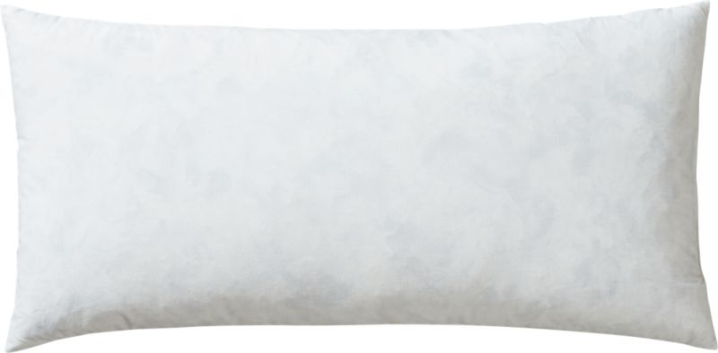 "feather-down 23""x11"" pillow insert"