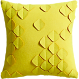 "felt flutter yellow 16"" pillow"