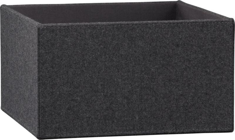 charcoal felt storage box