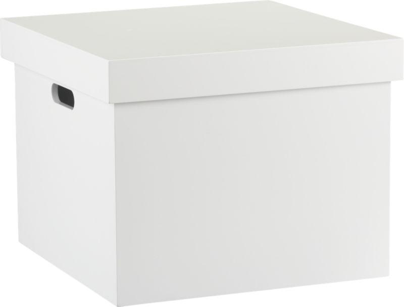 white file box | CB2