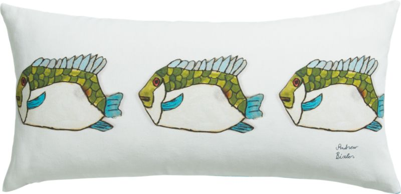 "fish 23""x11"" pillow"