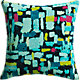 "flash mob 16"" pillow with down-alternative insert"