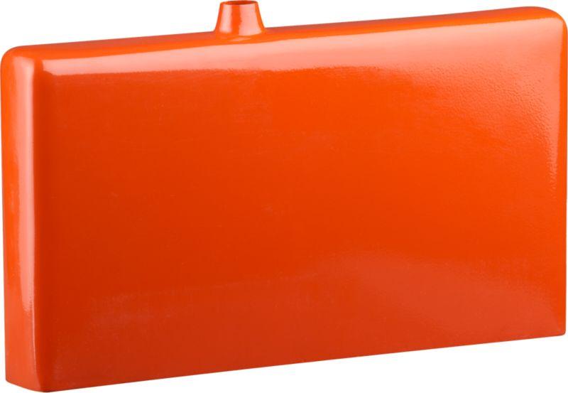 flask orange vase
