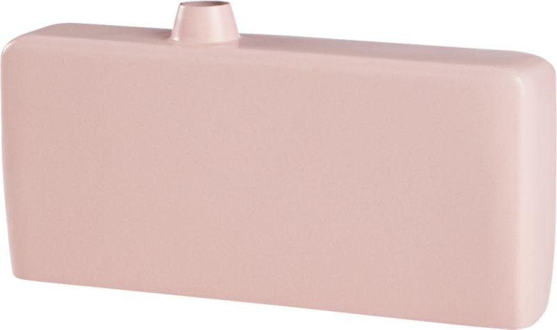 flask pink vase