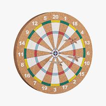 flechette dartboard and darts game