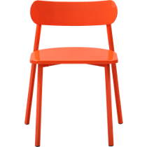 fleet hot orange chair