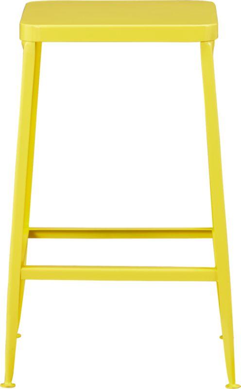 flint yellow 24quot bar stool CB2 : flint yellow 24 counter stool from cb2.com size 598 x 598 jpeg 18kB