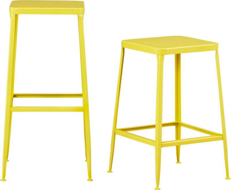 flint yellow barstools