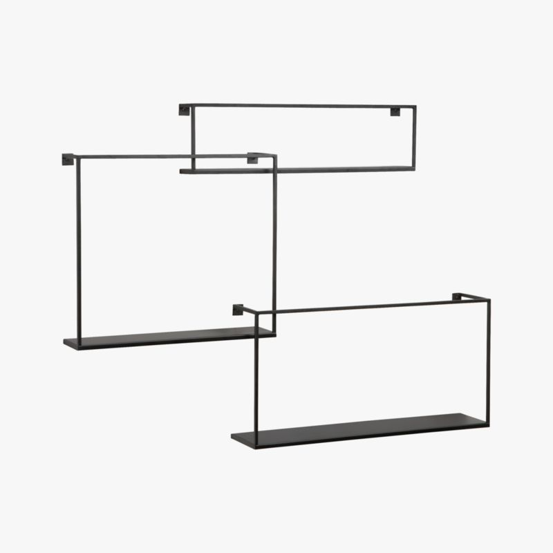 set of 3 floating shelves