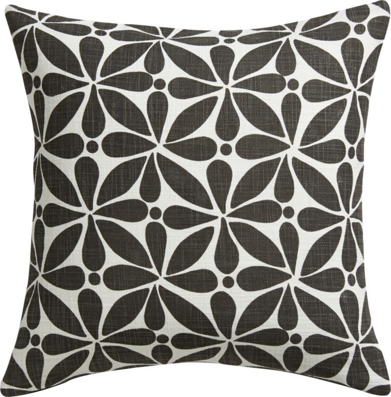 "flourish 16"" pillow with feather-down insert"