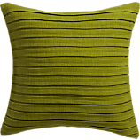 "fold green 16"" pillow with feather insert"