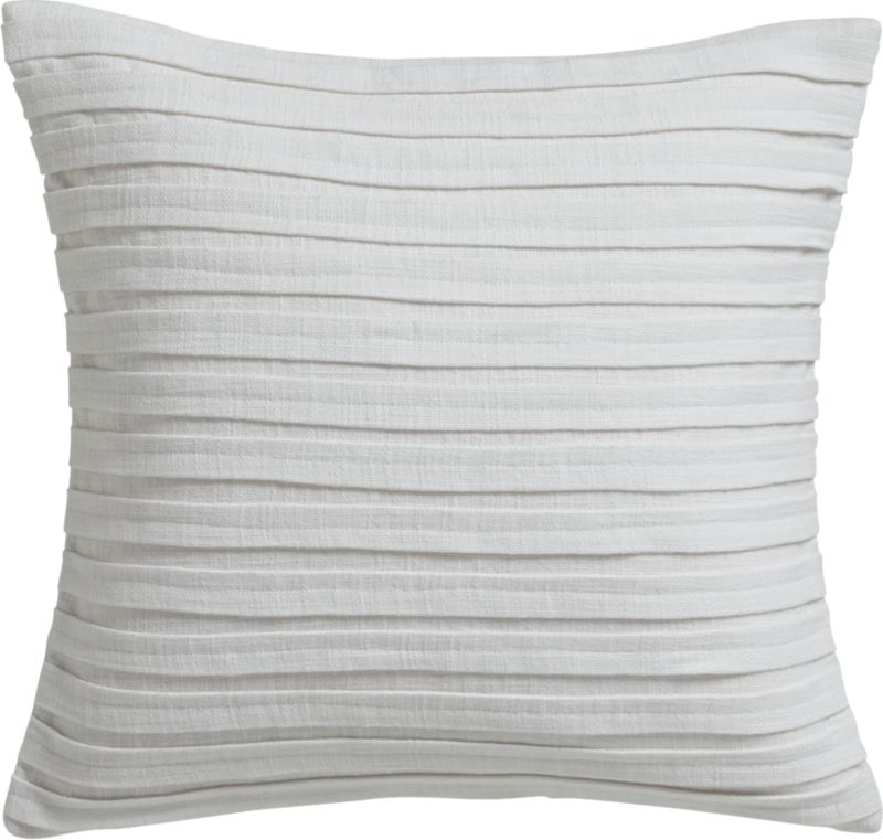 "fold white 16"" pillow with feather-down insert"