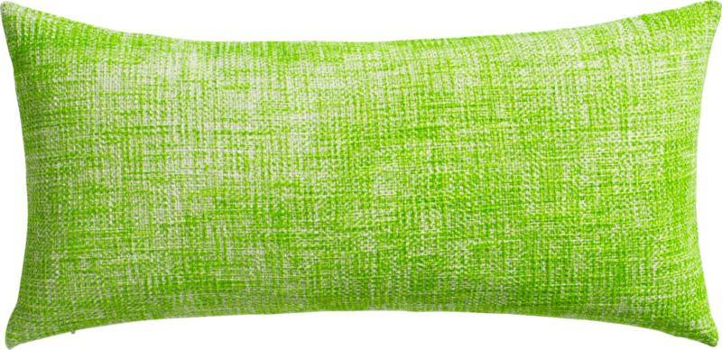 "format bright green 23""x11"" pillow with down-alternative insert"