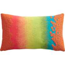 "fossette ombre stripe 20""x12"" outdoor pillow"