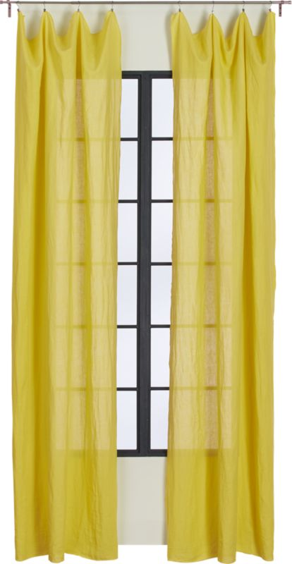 French-Belgian chartreuse linen panel