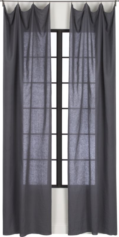 French-Belgian dark grey linen panel