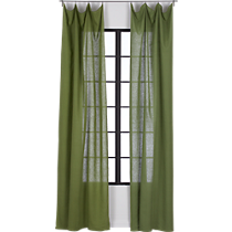 French-Belgian green linen panel