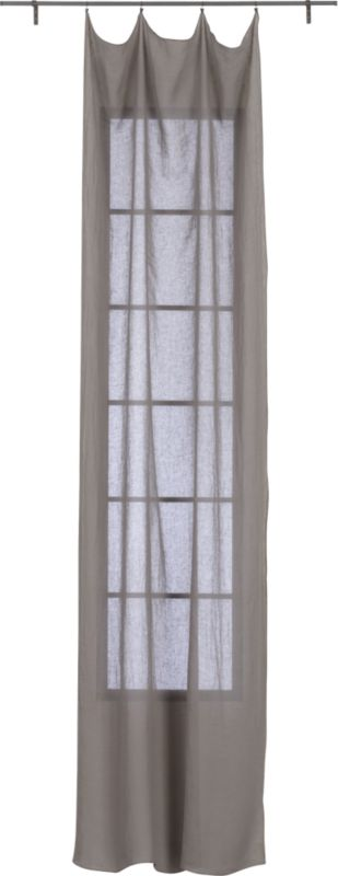"French-Belgian light grey linen panel 48""x120"""