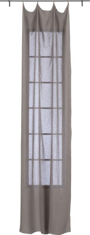 """French-Belgian light grey linen panel 48""""x84"""""""
