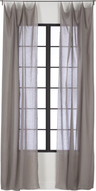 French-Belgian light grey linen panel