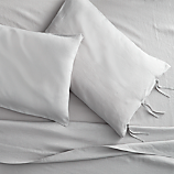 French-Belgian linen shale king sheet set