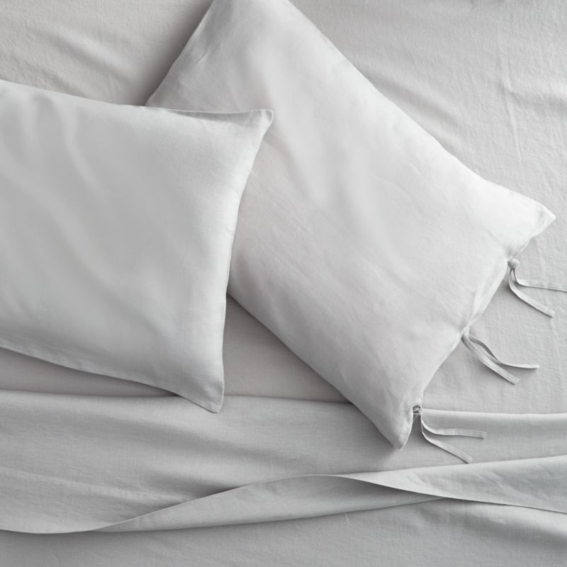 French-Belgian linen shale sheet sets