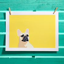 french bulldog screen print