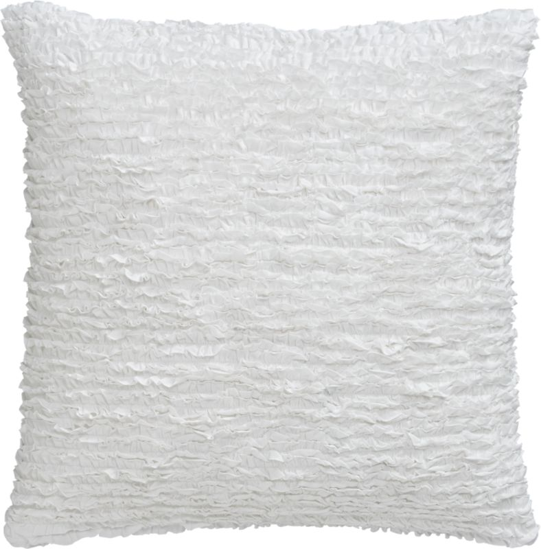 "frill 23"" pillow with down-alternative insert"