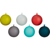 frosted ornaments set of six