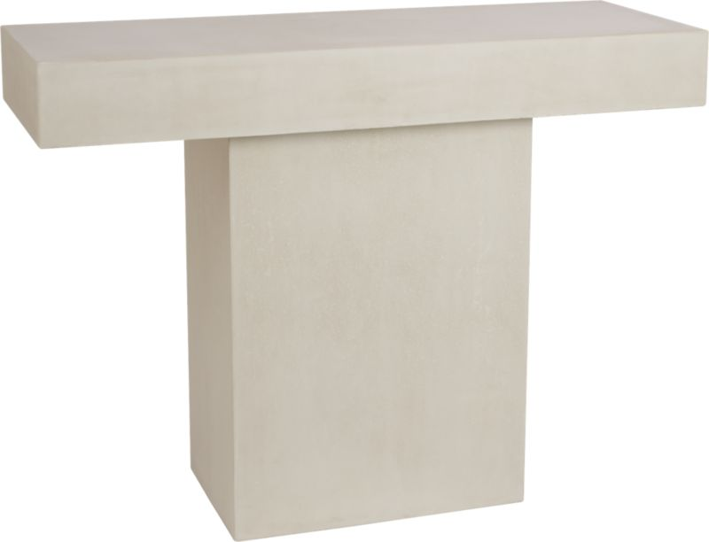 fuze ivory console table