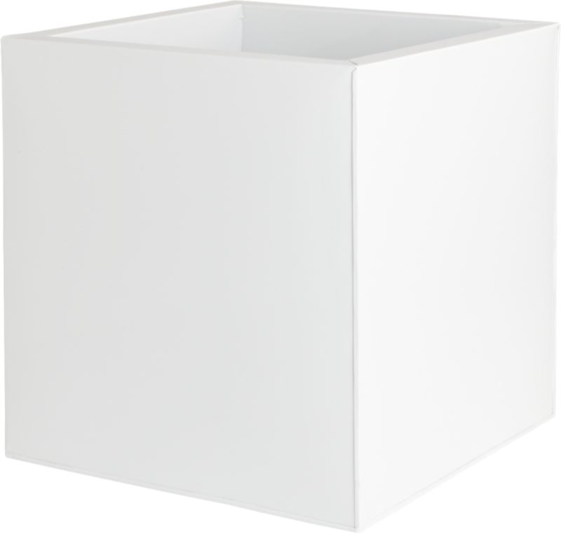 galvanized high gloss large white planter