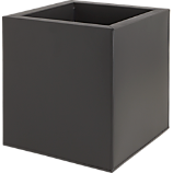 blox galvanized medium matte black planter