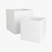 blox galvanized high gloss white planters