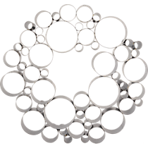 galvanized bubble wreath