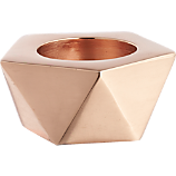 gami rose gold candle holder