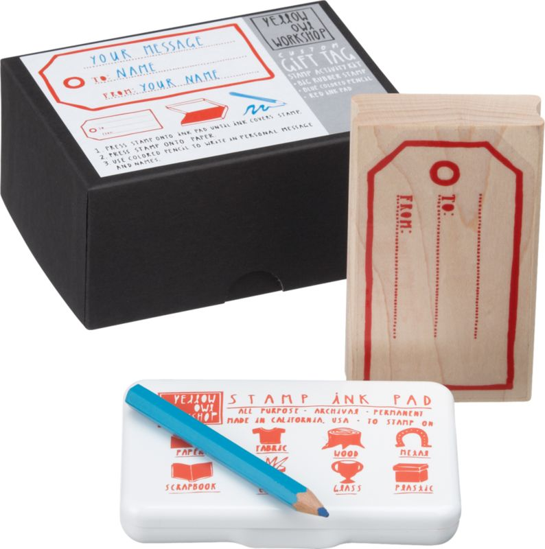 gift tag stamp activity kit