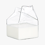 glass milk carton creamer