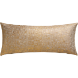 "glitterati gold 36""x16"" pillow"