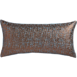 """glitterati slate 23""""x11"""" pillow with feather-down insert"""