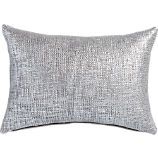 "glitterati silver 18""x12"" pillow with feather-down insert"